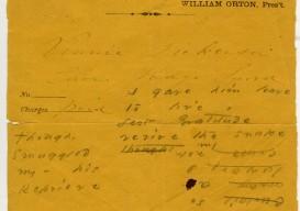 Emily Dickinson Envelope poem 3