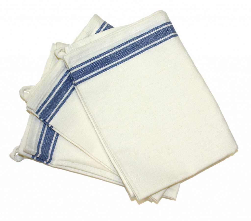 blue stripe dish towel napkin
