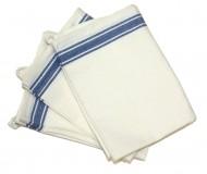 blue stripe dish towel napkin