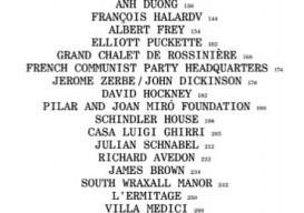 Francois Halard contents