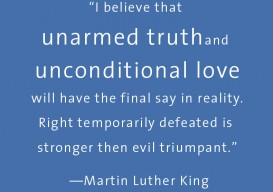 ML KING anarmed truth
