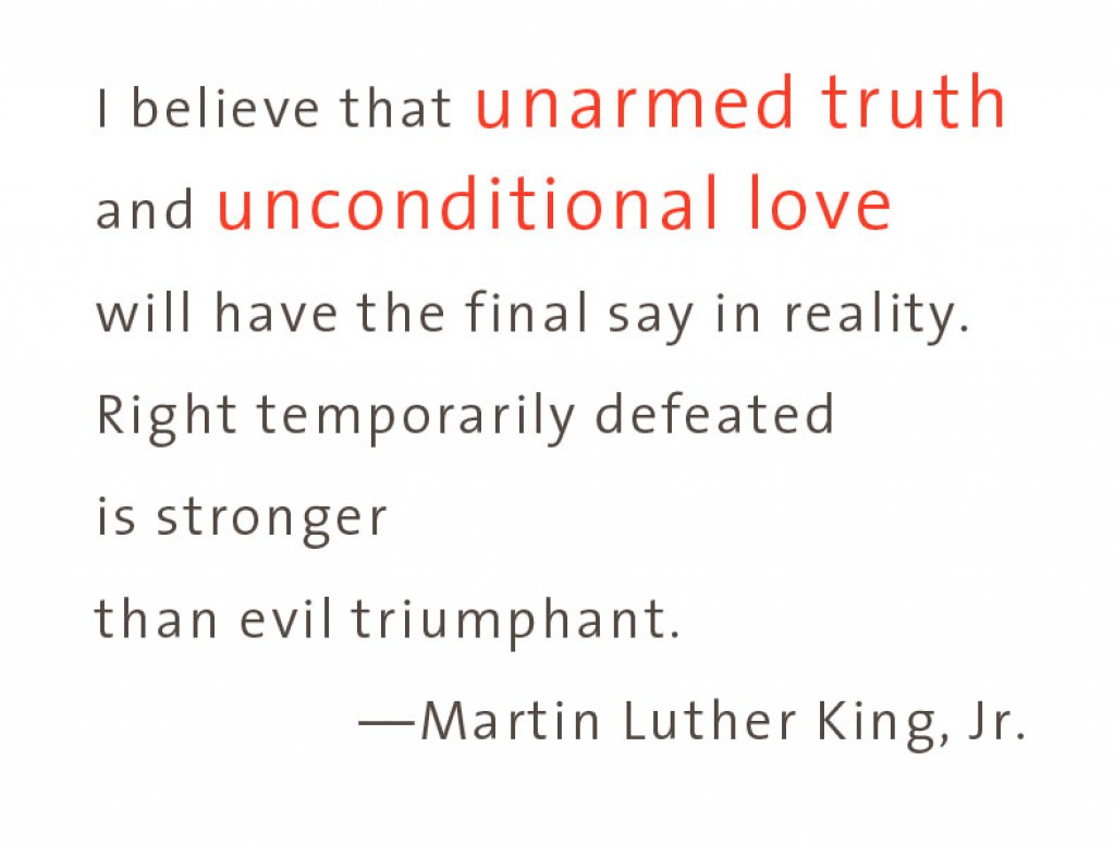 ML King Unarmed truth*