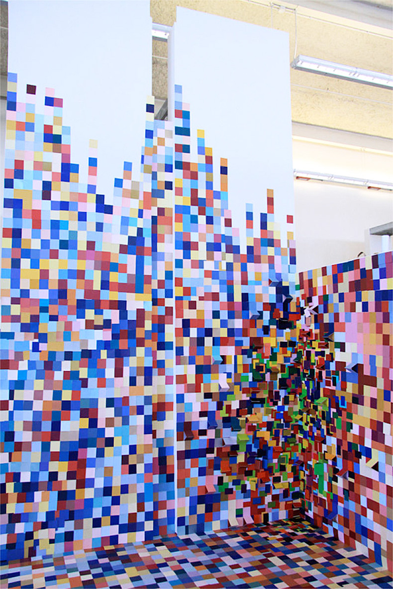 siraj paint swatch installation via design milk copy