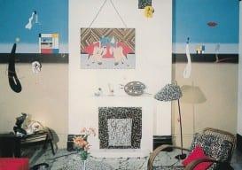 Duggie Fileds, 1976 squiggle paint floor