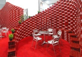 plastic can container wall
