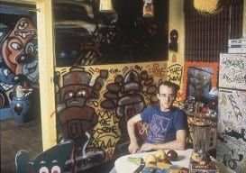 Keith-Haring-sits-in-his-Broome-Street-apartment-in-New-York-in-1983.-AP-Photo