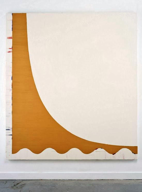Shaan Syed Ana Cristea Gallery yellow curve painting