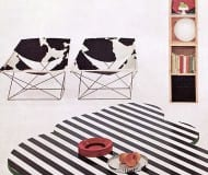 striped coffee table Pierre Paulin and Kho Liang Ie, Circa 1966