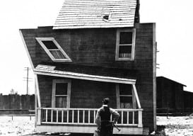 Buster Keaton cockeyed house