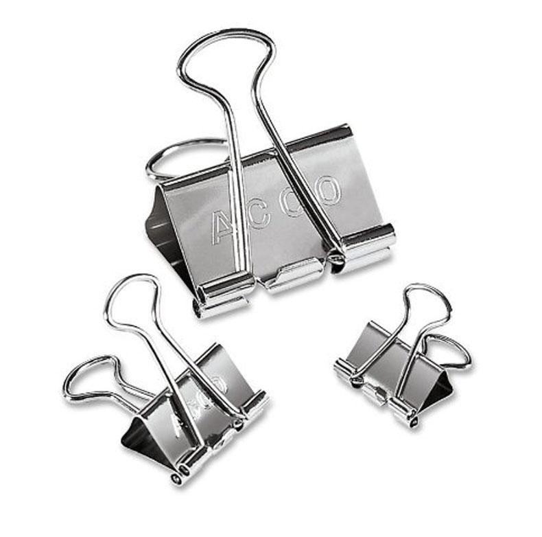 binder clips silver