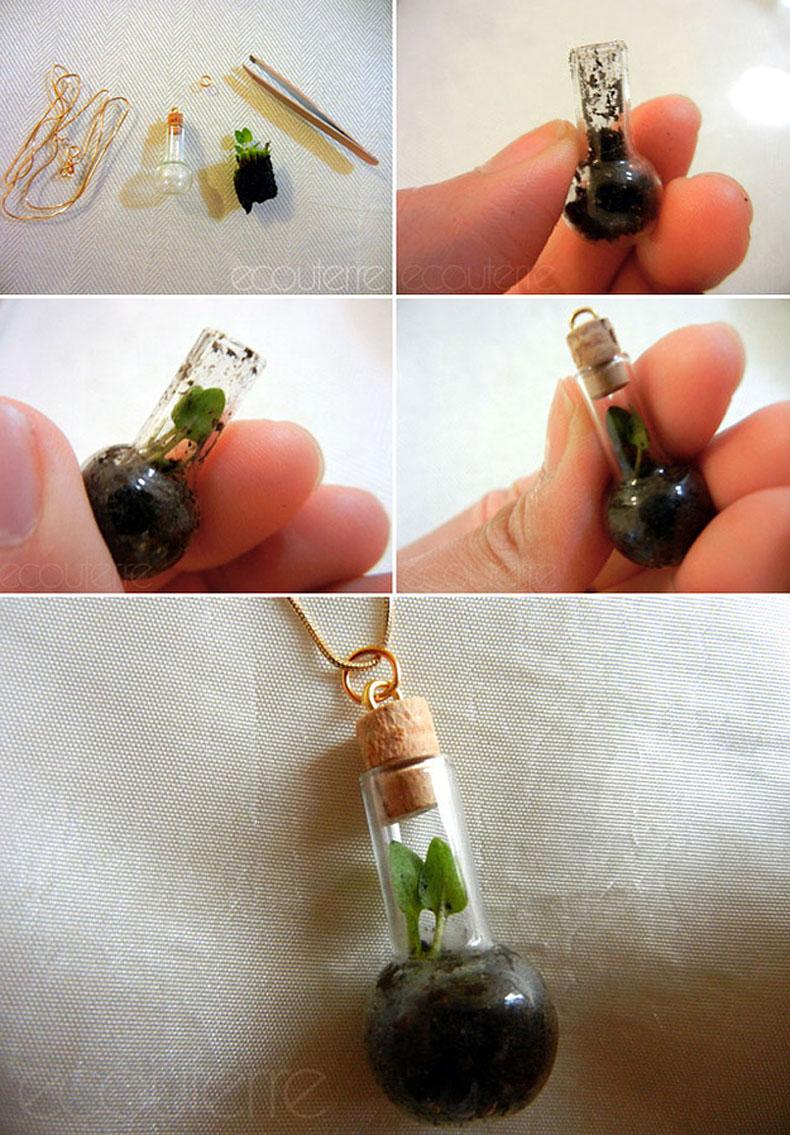Diy Terrarium Necklace Or Barbie Bottle Garden Improvised Life