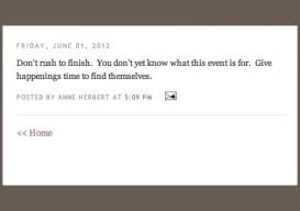 Anne Herbert Don't Rush to Finish