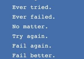 Fail Better blue