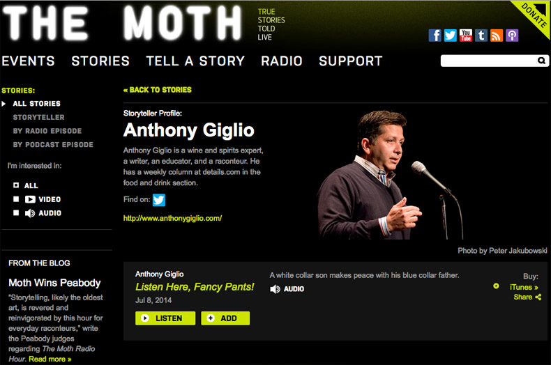Anthony Giglio The Moth