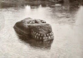 Graffiti River Rock Monster