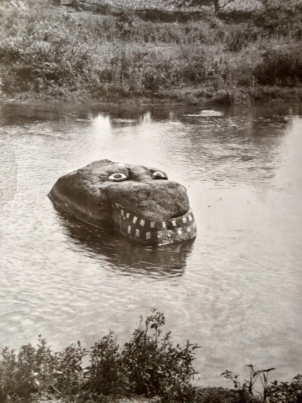 Graffiti River Rock Monster