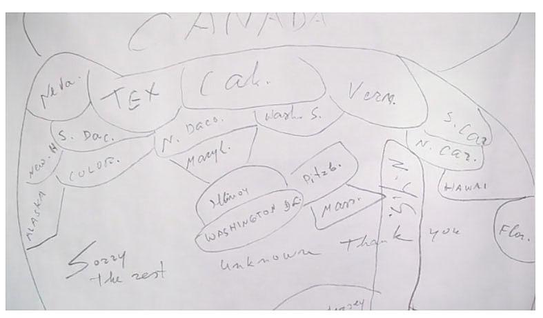 Maira Kalman's mother's map