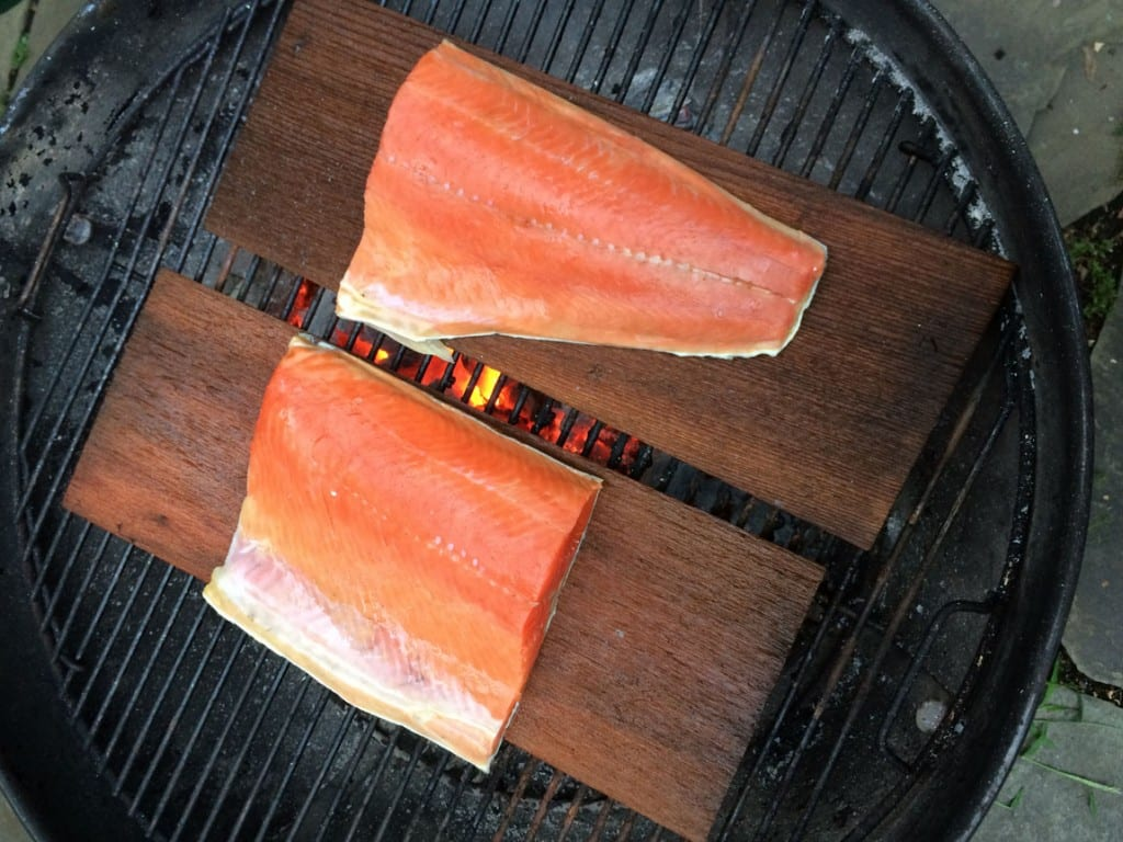 cedar planked salmon raw