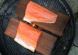 cedar planked salmon raw