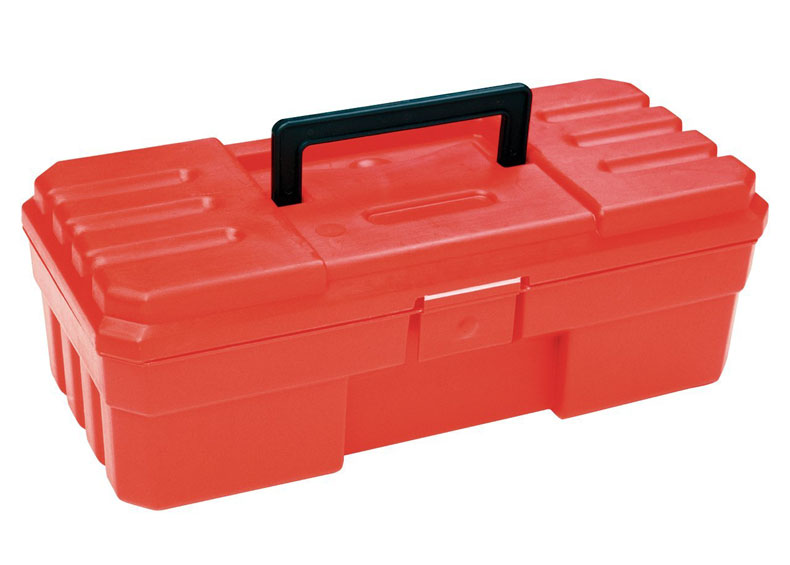 red plastic storage box akro mils