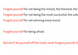 Forgive Yourself Seth Godin sharp