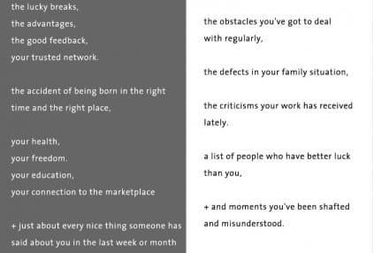 Seth Godin A + B gray white