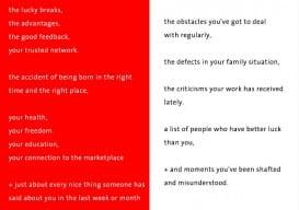 Seth Godin A + B red white
