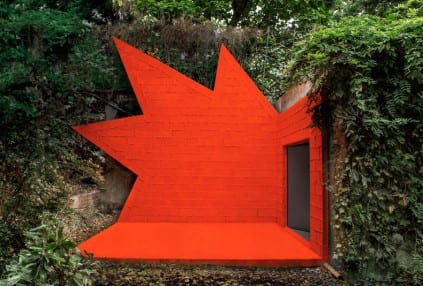 Spiky Red Wall