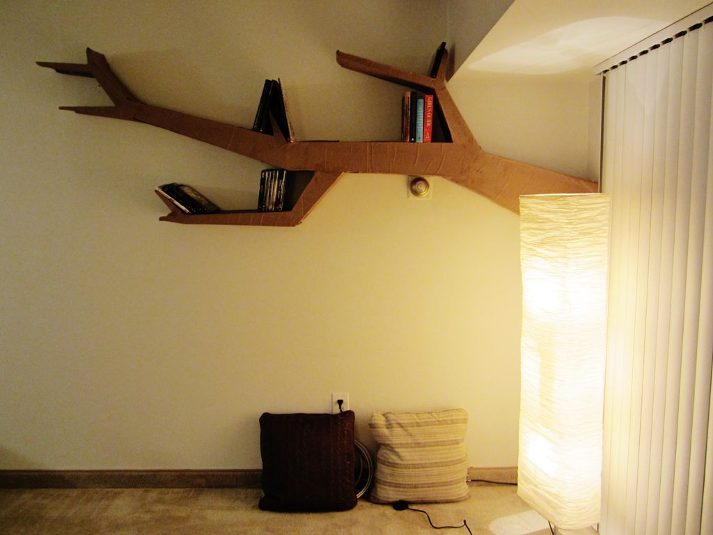 Tree Branch Book Shelf Cut Out Improvised Life
