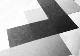floor optical illusion rug b & w