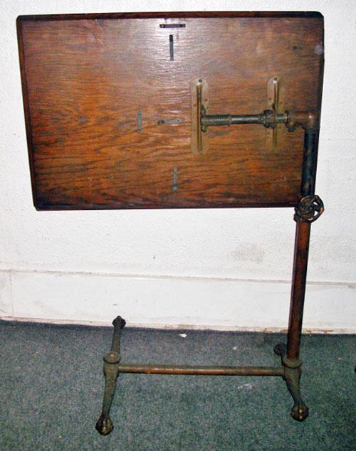 vintage hospital table