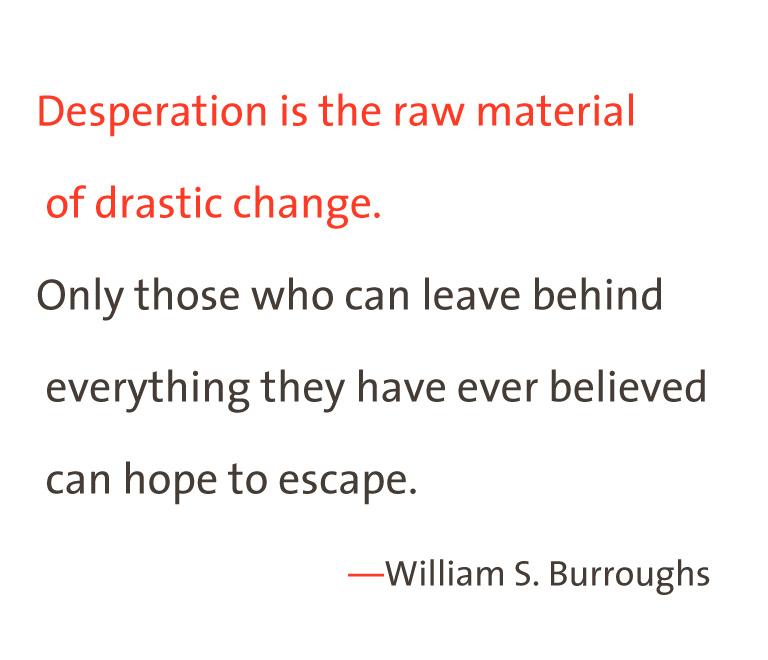 Desperation 2 tone William S Burroughs
