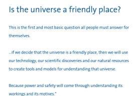 Is the universe friendly Albert Einstein