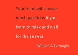 Your Mind Will Answer 2 tone *Wm S Burroughs
