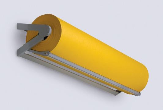 yellow Kraft paper + dispenser