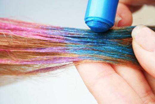Loose Pigments hair chalking