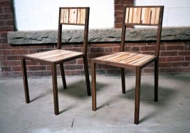 a pair of hand-jointed chairs