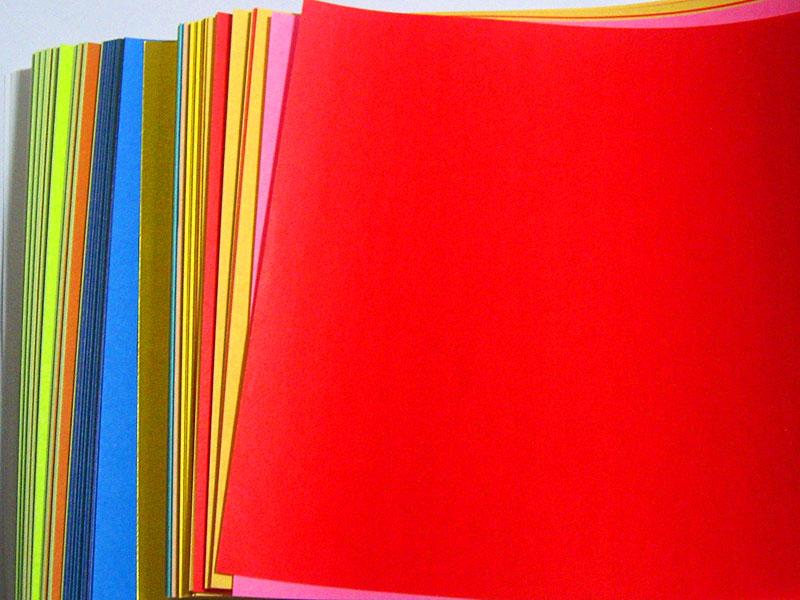 origami paper multi colored