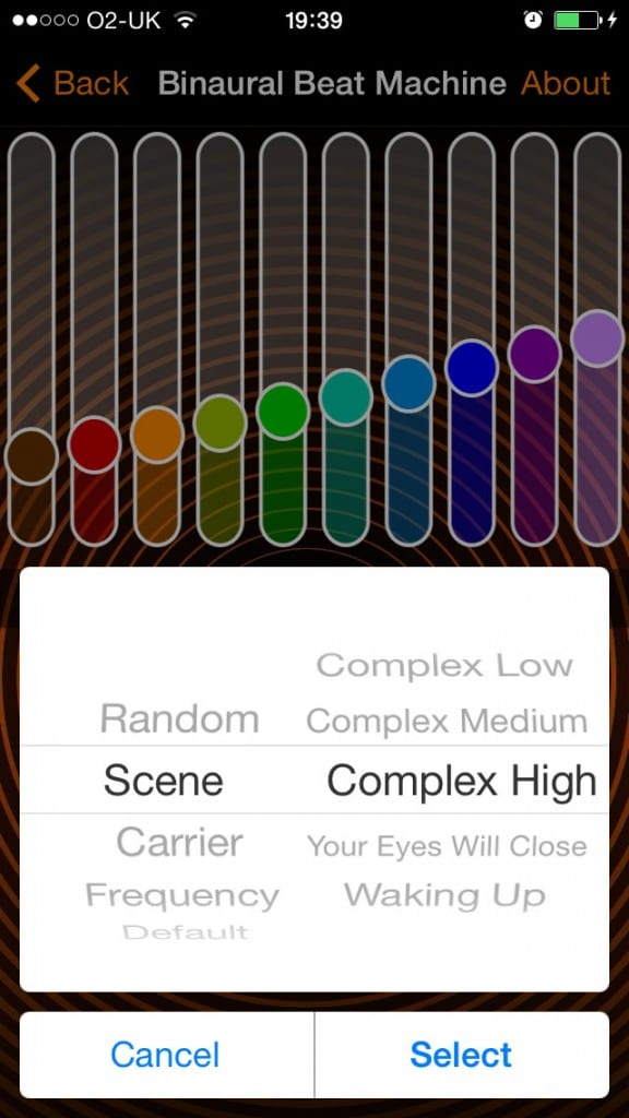 myNoiseApp screenshot binaural beat
