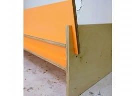 painted playwood sofa orange 2 Jason VanHoose pinterest