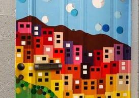 painted door portugal Ahrabella Heabe Lewis
