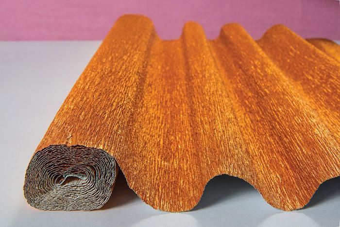 copper crepe paper