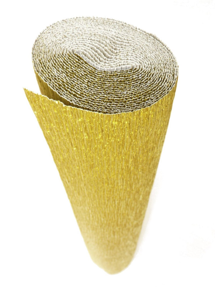 gold crepe paper