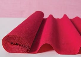 poppy red crepe paper