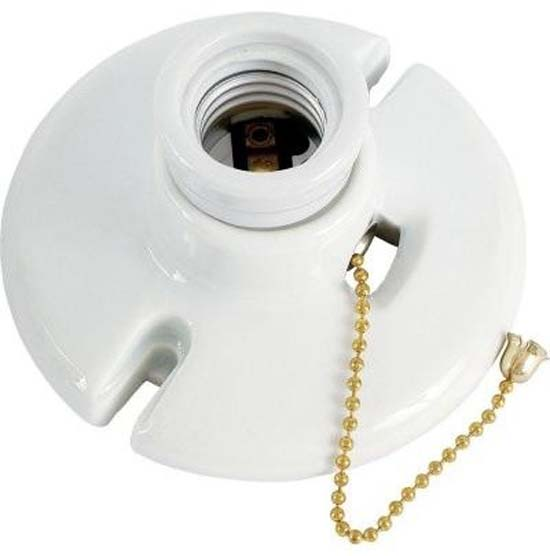 porcelain wall socket pull chain
