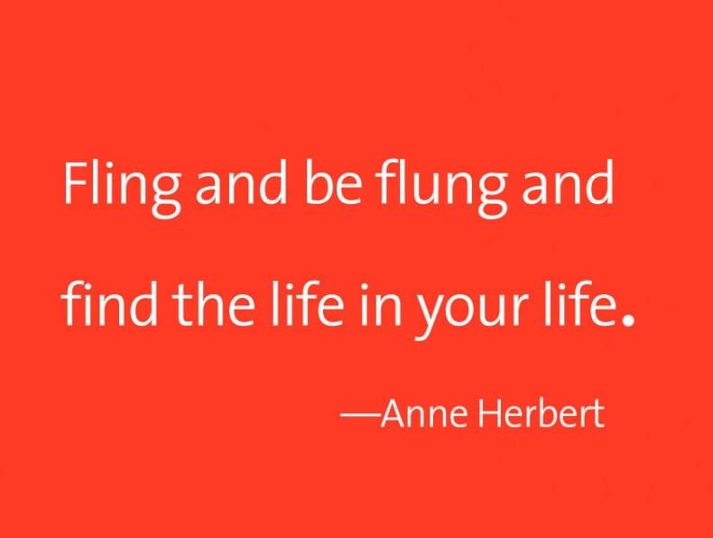 Fling + be flung Anne Herbert 2