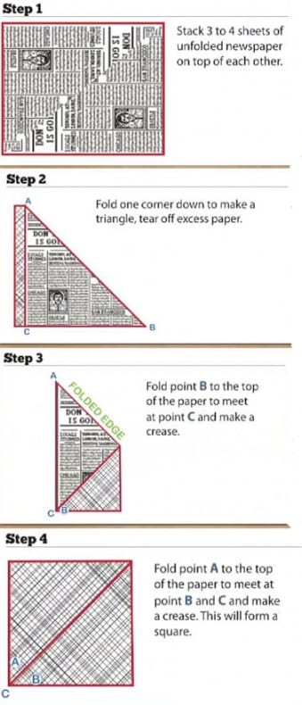 origami garbage bag instruction #1-4