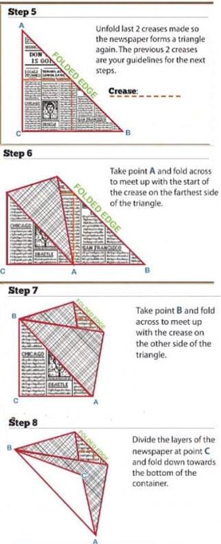 origami garbage bag instruction #5-8