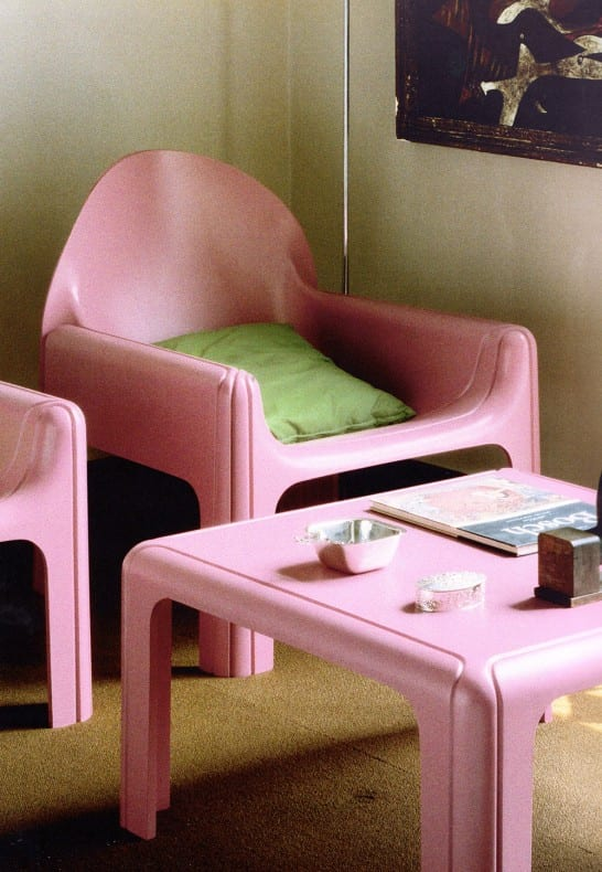 Aqqindex pink Gae Aulenti, for Kartell, 1974