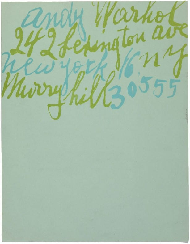 Warhol Stationary